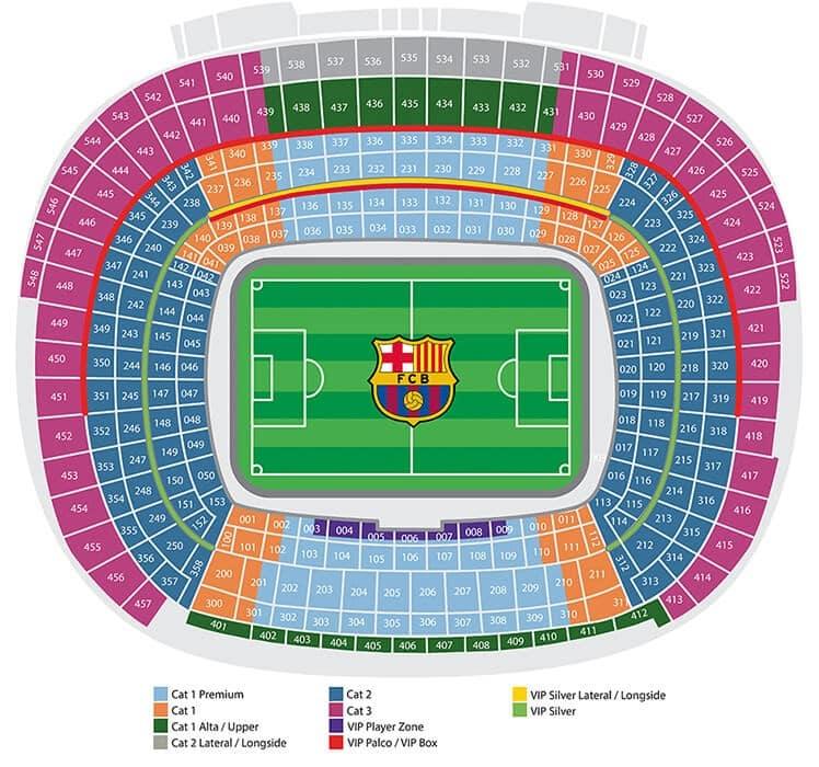 Stadion plasser hos FC Barcelona
