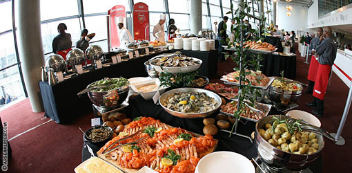 Fotballbilletter-vip-club-level-buffet