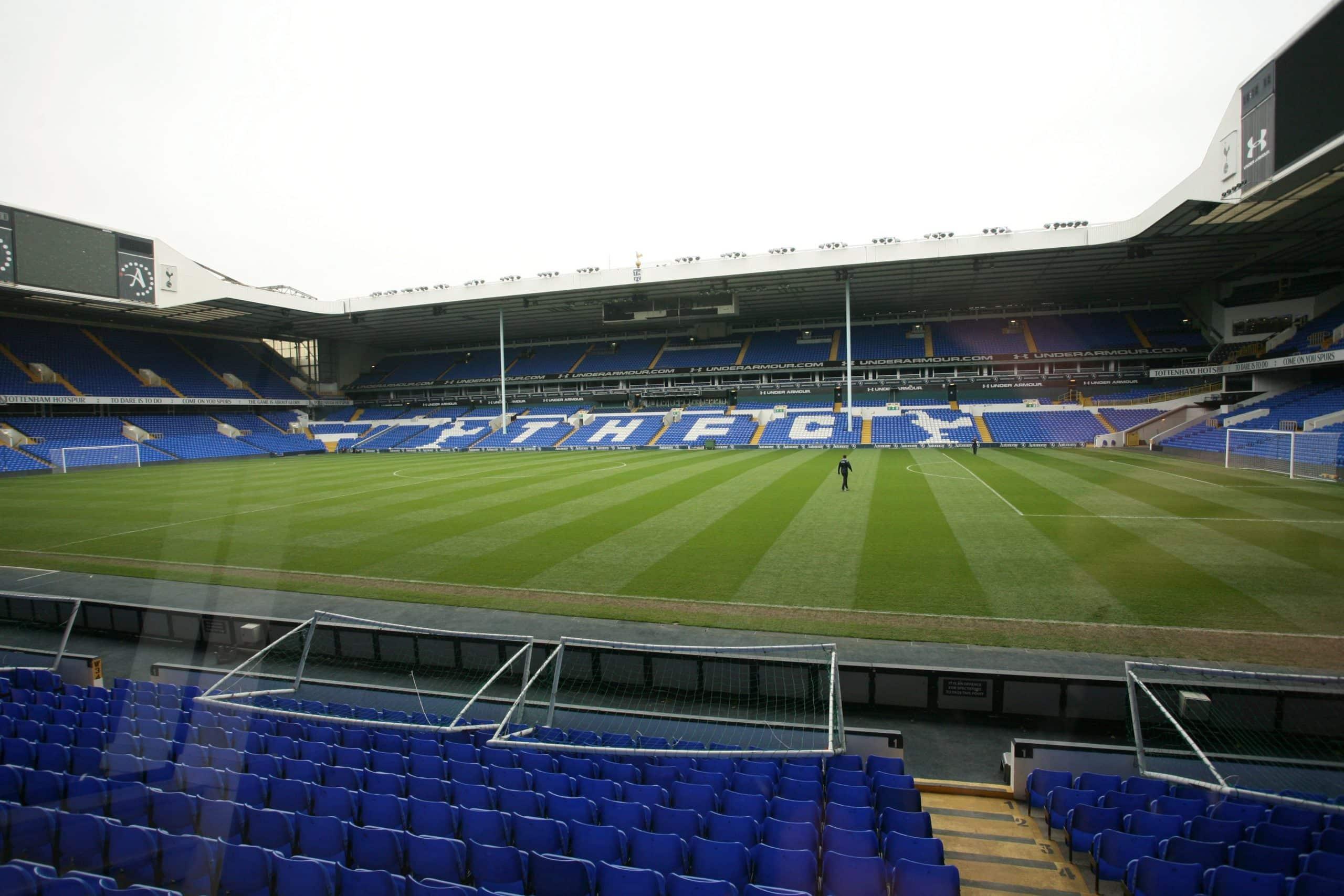 Utsikt fra EXC box på White Hart Lane