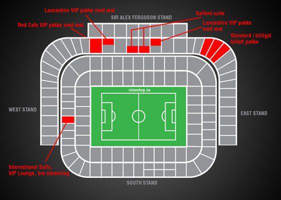 billett plassene på stadion