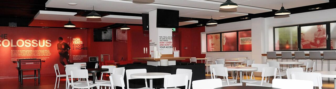 Shankly lounge Anfield Liverpool